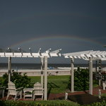 Rainbow over the bungalo sitting area