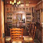 The Chef's Table in the Wine Room