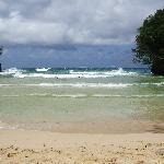 mer très agitée ce jour là, baignade dangereuse