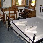 Room with double bed on first floor