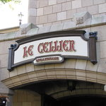 The entrance to Le Cellier