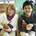 Very friendly chickens!