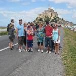 Some of us at Le Mont St. Michel