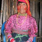 Kuna woman in nearby village