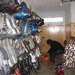 Great ski room. Boot heaters dry you boots over night.