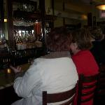 Seating at the bar is friendly and comfortably spaced.