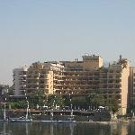 View of the back of the hotel, taken from the Nile