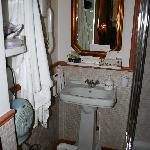 Bathroom (toilet and shower out of view)