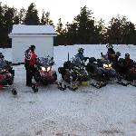 Our group ride leaving Leota
