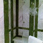 Shower stall in room 402