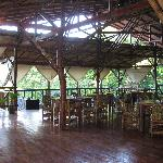 The lovely open-air restaurant