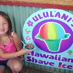 my daughter enjoying a yummy shaved ice