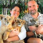 we got to hold baby lions and a jaguar!  Look for the booth at the Marina