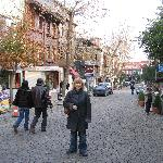 The street down to the Hotel