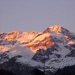 panorama del tramonto sul rosa dalla camera
