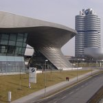 BMW Welt on left, Museum on right (bowl)