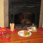 Hors D'oeruvres By The Fire Place