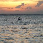 Early morning fishing at Nusa Dua