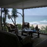 View from our suite Pink Lodge on the Beach Wilderness South Africa