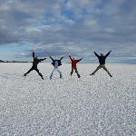 The salt flats Salar, Bolivia