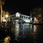 Rialto Bridge at night -- from the room