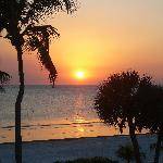 Sunset from our deck at Sandpiper II