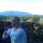 Lucy in Vina Romantica's backyard