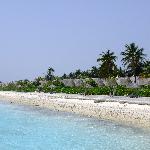 Kroallendurchzogener Strand Aussenseite