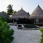 Beach Villa leider ohne jegliche Palmen