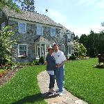 My wife Lisa and I in front of our favorite B&B
