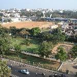 View of Nehru Park opposite hotel