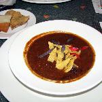 tortilla soup at the Wolfgang Puck Cafe