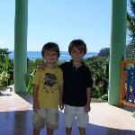 Happy boys at Hotel Mirador