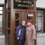 me with desk clerk Zofia-a doll