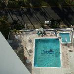 the pool, as seen from our room
