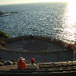 for a romantic evening, watch the sunset at the ampitheatre