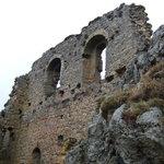 The ruins,Chateau de Roquefixade,France.