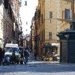 Entering to Via del Boshetto from Via Nazionale