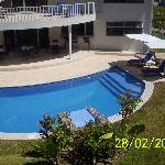 View from Room 10 to the swimming pool area