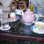 かわいいポット。コーヒーより紅茶がお薦め。