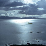 Isle of Rhum from above Tarskavaig, Skye