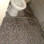 Bathroom floor was uninviting