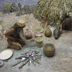 very nice diorama of early Native American life in the area