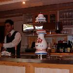 Our very nice bartender He deserves a raise