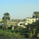 Luxor Temple from the rooftop restaurant