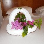 Towel flower basket