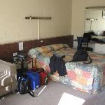 standard room at back of motel