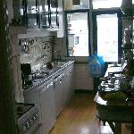 Kitchen in the Nostalgia Suite
