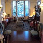Half of the lovely breakfast room