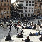 Piazza de Spagna muy cerca del Hotel